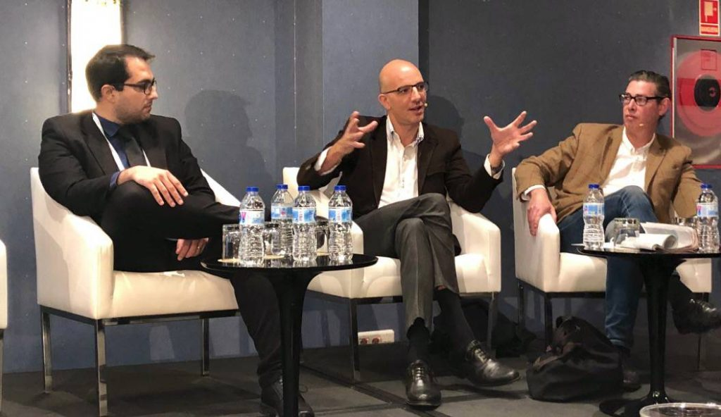 """Luis Rodriguez, Chief Product Officer at Strands, participating in the """"AI in Banking"""" panel"""