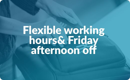 Flexible working hours& Friday afternoon off