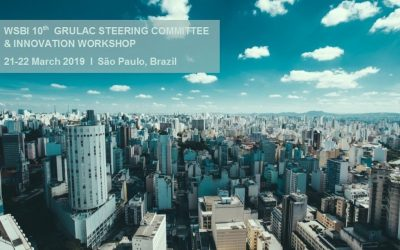 Albert Morales takes part in the World Savings Banks Institute event in São Paulo